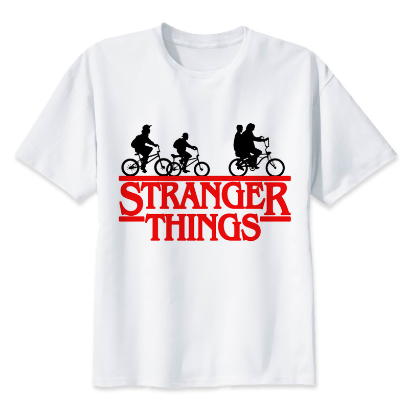 tee sirt stranger things groupe amis velos cr er son t shirt. Black Bedroom Furniture Sets. Home Design Ideas