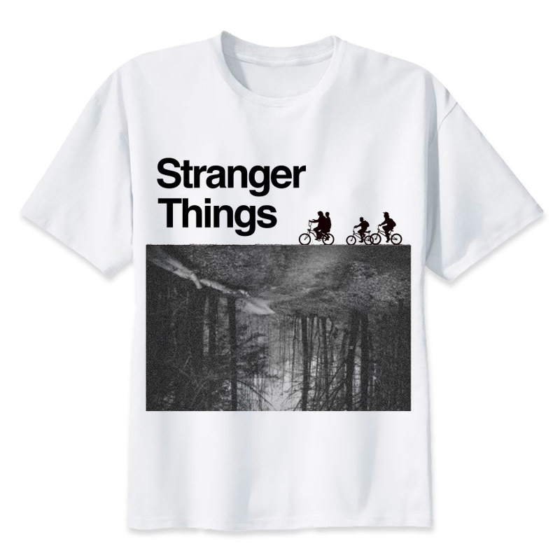 Tee shirt Stranger Things - Black and White Créer Son T Shirt