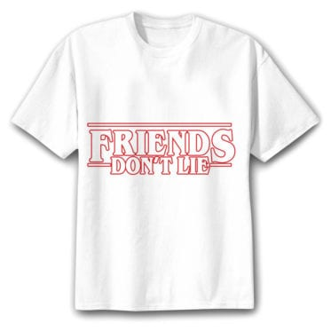 tee shirt stranger things friends dont lie