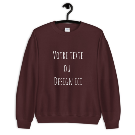 sweat personnalisable bordeaux creer son tshirt