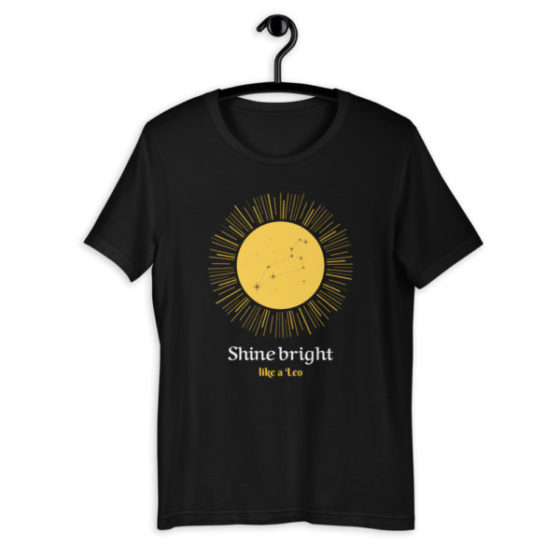 t-shirt astro lion shine bright like a leo
