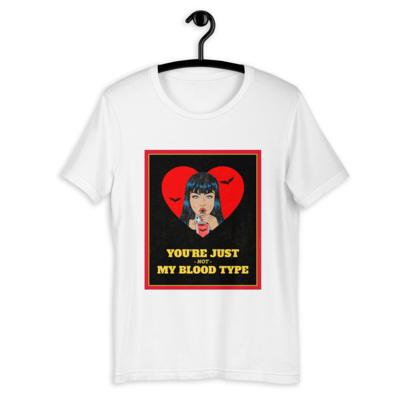 t shirt vampire youre not my blood type