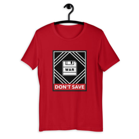 t shirt street art war dont save geek
