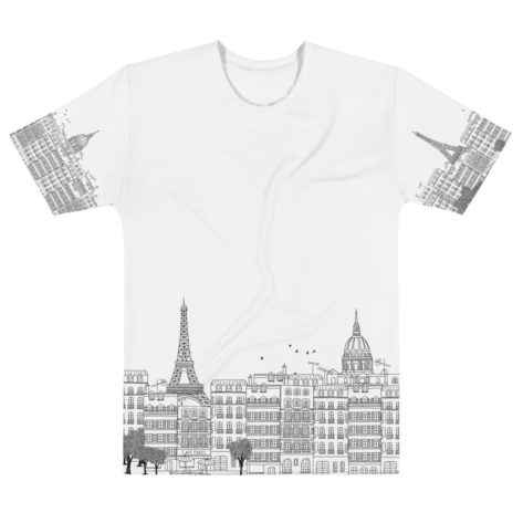 T-shirt personnalisable Fullprint – Paris Illustration 1