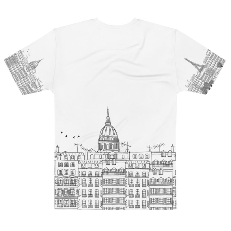 T-shirt personnalisable Fullprint - Paris Illustration Créer Son T Shirt