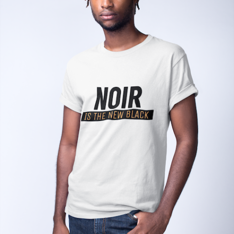 t shirt noir is the new black blanc