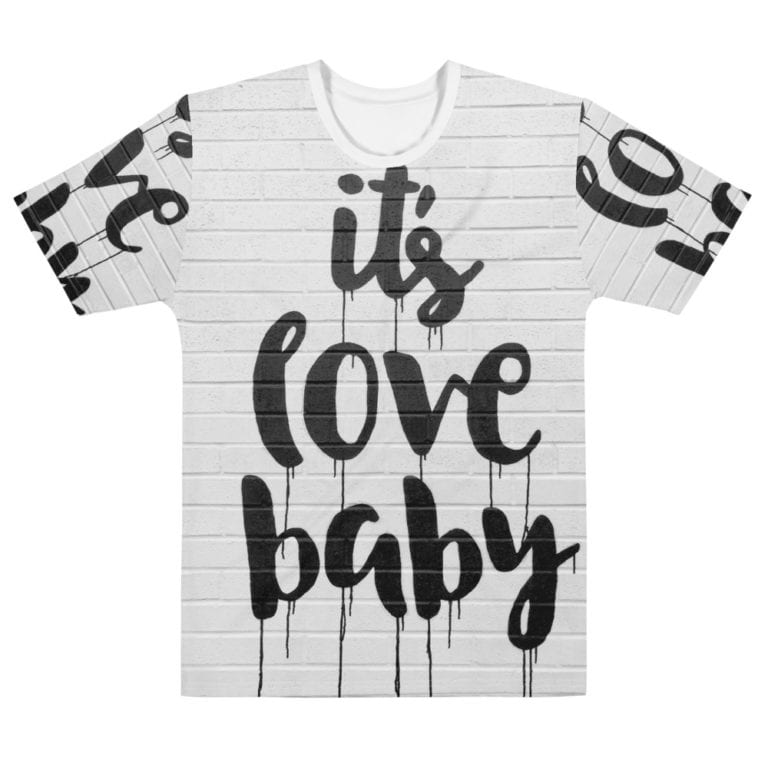 T-shirt Full Print It's Love Baby pour Homme