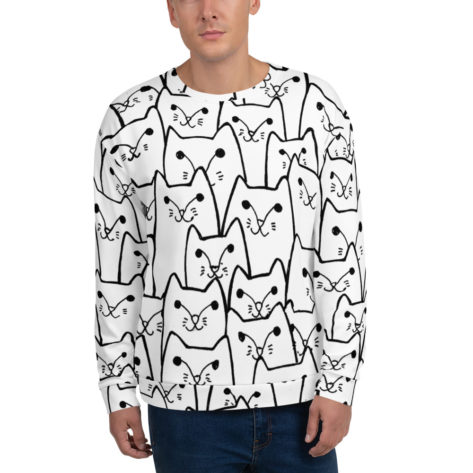 sweat shirt personnalisé full print chat