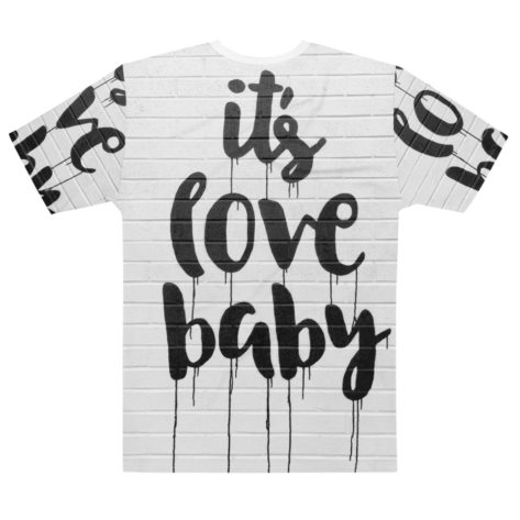 t shirt full print its love baby