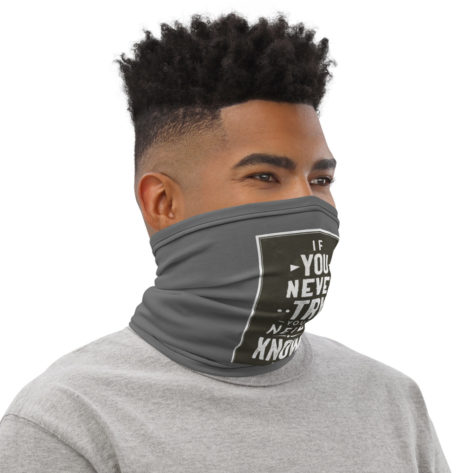 Masque tissu lavable If You Never Try Créer Son T Shirt