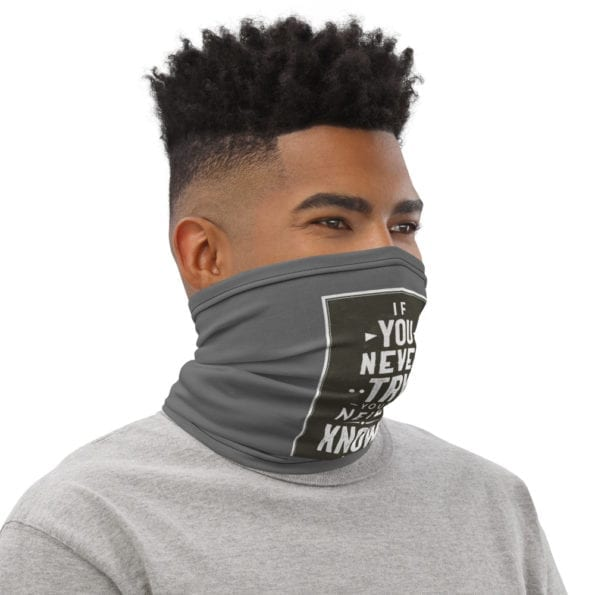 Masque tissu lavable If You Never Try