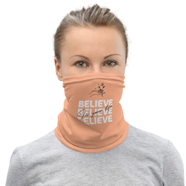Masque tissu lavable Believe in Your Life