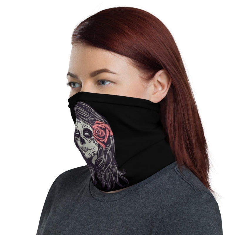 Masque tissu lavable Skulls Mexican Girl Créer Son T Shirt