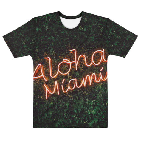 t shirt full print personnalisable nature verte aloha