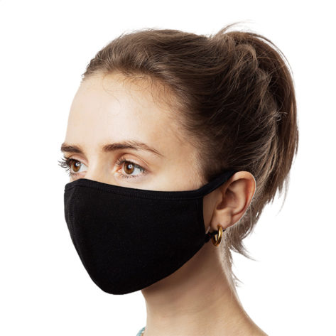 Masques de protection lavables Noir (Lot de 3) Créer Son T Shirt
