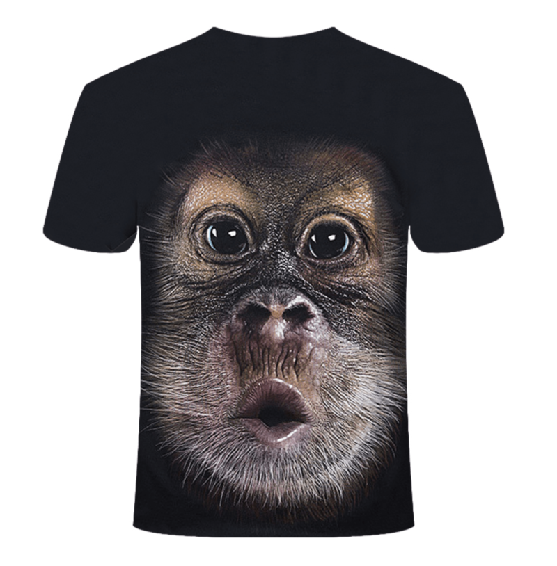 t-shirt full print 3D singe dos