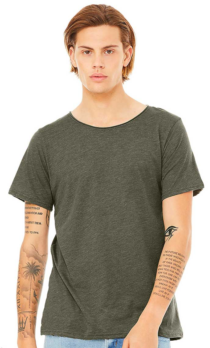 Tee-shirt-homme-col-large-coupe-tendance-personnalisable