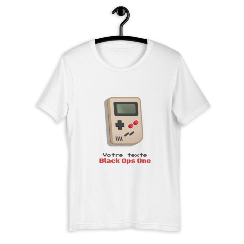 T-shirt Game Boy Retro à personnaliser Unisexe Créer Son T Shirt