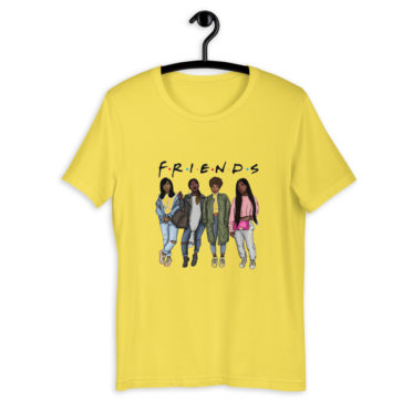 t-shirt-friends-black-parodie_mockup_Front_On-Hanger_Yellow