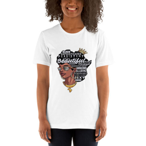 t-shirt black beautiful -queen_mockup_Front_Womens-2_White