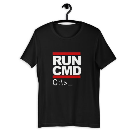 tee-shirt-geek-run-cmd_mockup_Front_On-Hanger_Black