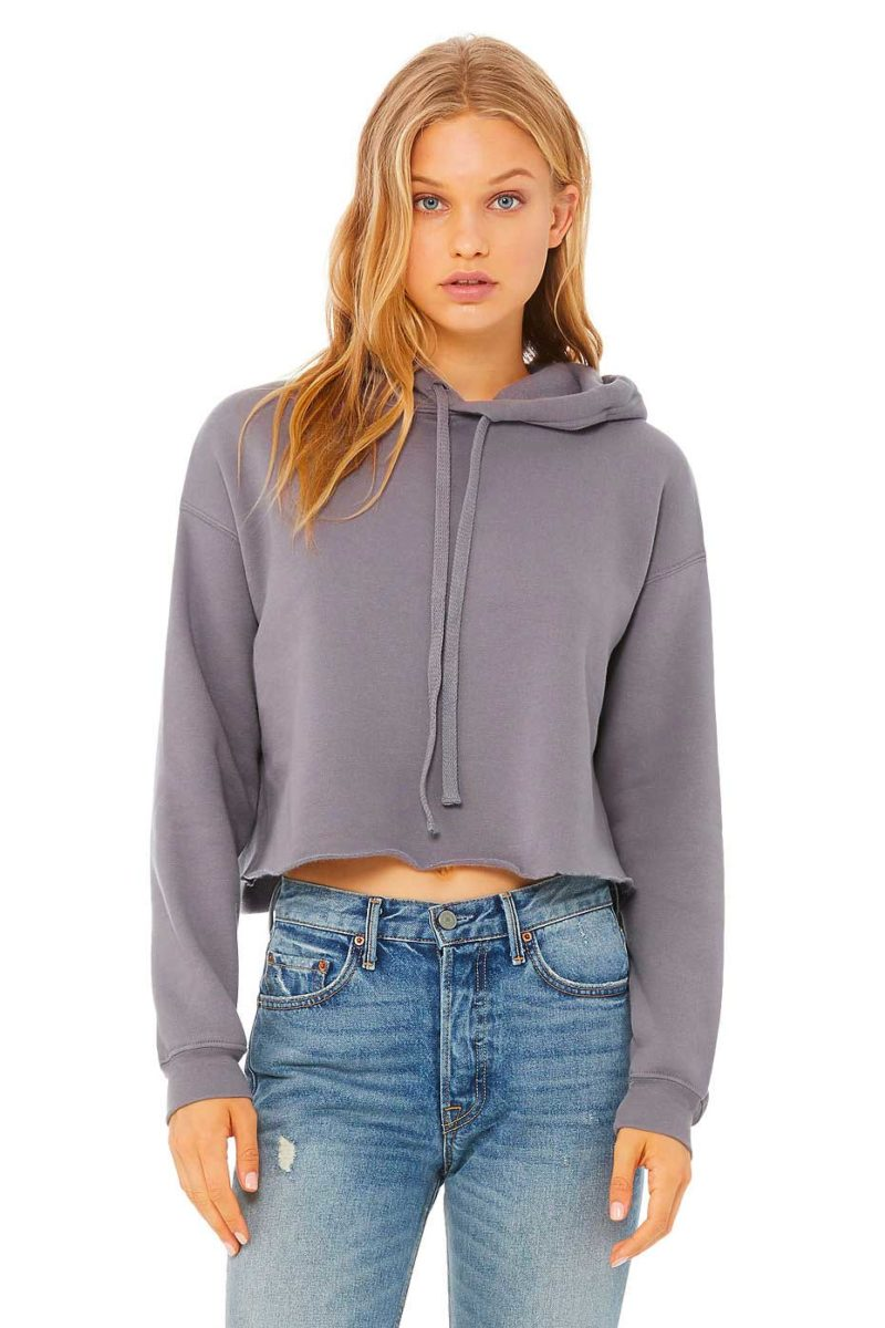 sweat-à-capuche-crop-top-personnalisé-gris