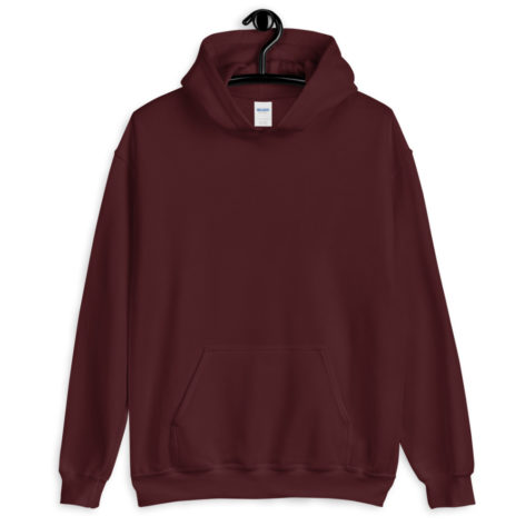 sweat a capuche bordeaux personnalisable 1