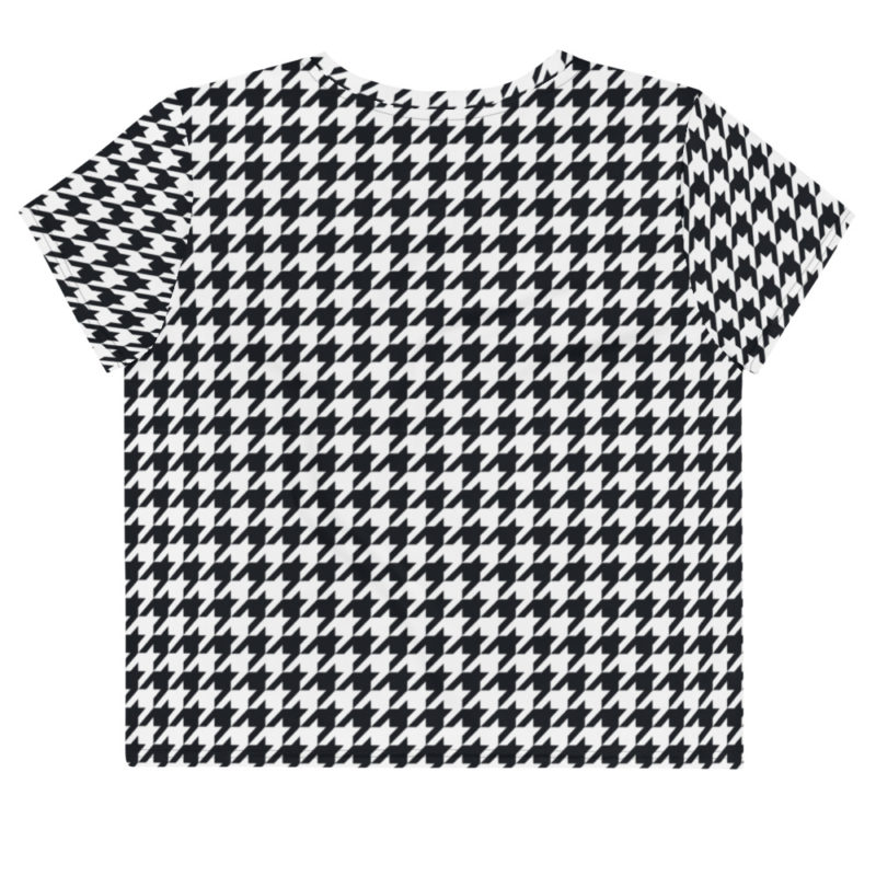 Crop-Top all over Full print - Pied de poule Créer Son T Shirt