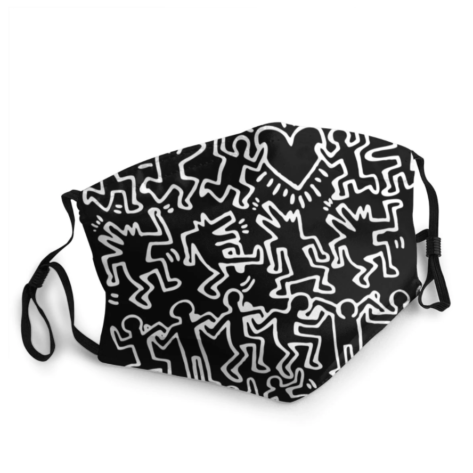 masque tissu lavable keith haring
