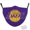 Masque tissu lavable + filtres PM 2.5 – Lakers Basketball