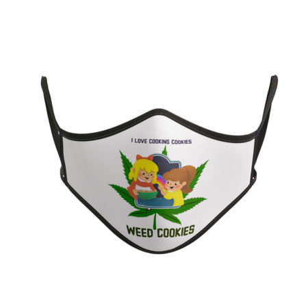 Masque tissu lavable réglable Cannabis Weed Cooking