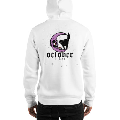sweat halloween octobre chat noir lune