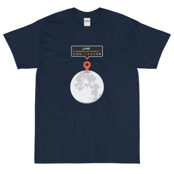 T-shirt Geek Parodie Google Map Lune – Homme