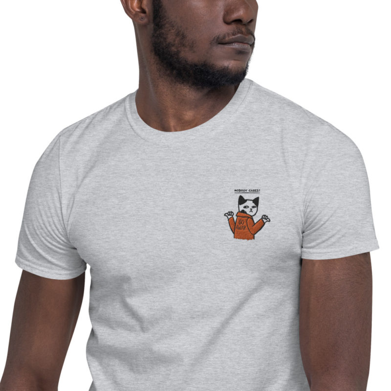t shirt brodé chat humour