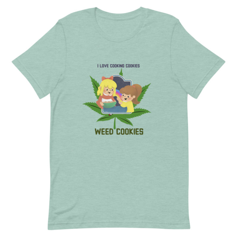 T-shirt Love Cooking Weed Cookies Unisexe Créer Son T Shirt