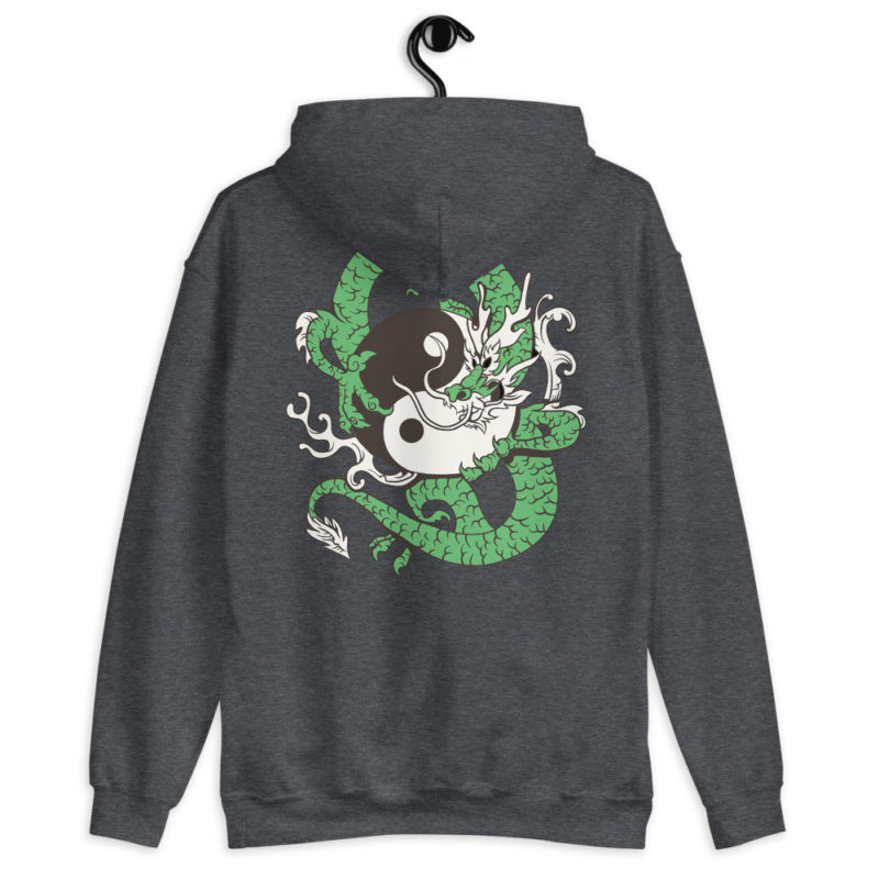 Sweat à capuche Dragon Japonais Yin Yang Créer Son T Shirt