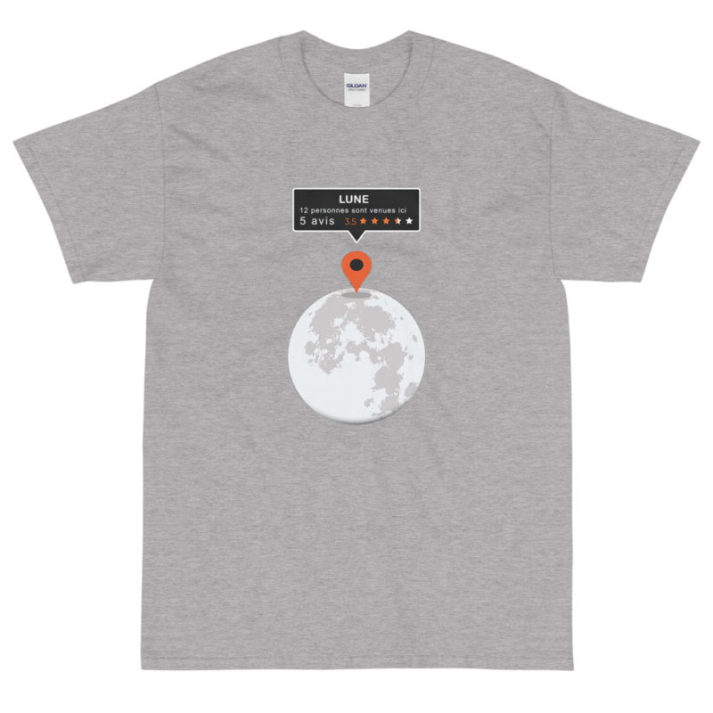 T-shirt Geek Parodie Google Map - Lune - Homme Créer Son T Shirt