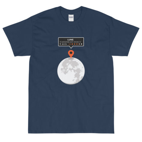 T-shirt Geek Parodie Google Map Lune