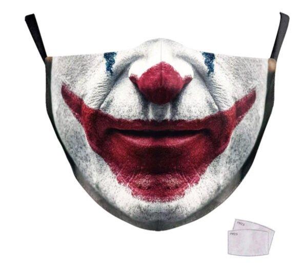 Masque tissu lavable Joker Le Film + filtres PM 2.5