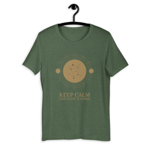 T-shirt Keep Calm Love Libra – Astro Balance – Unisexe