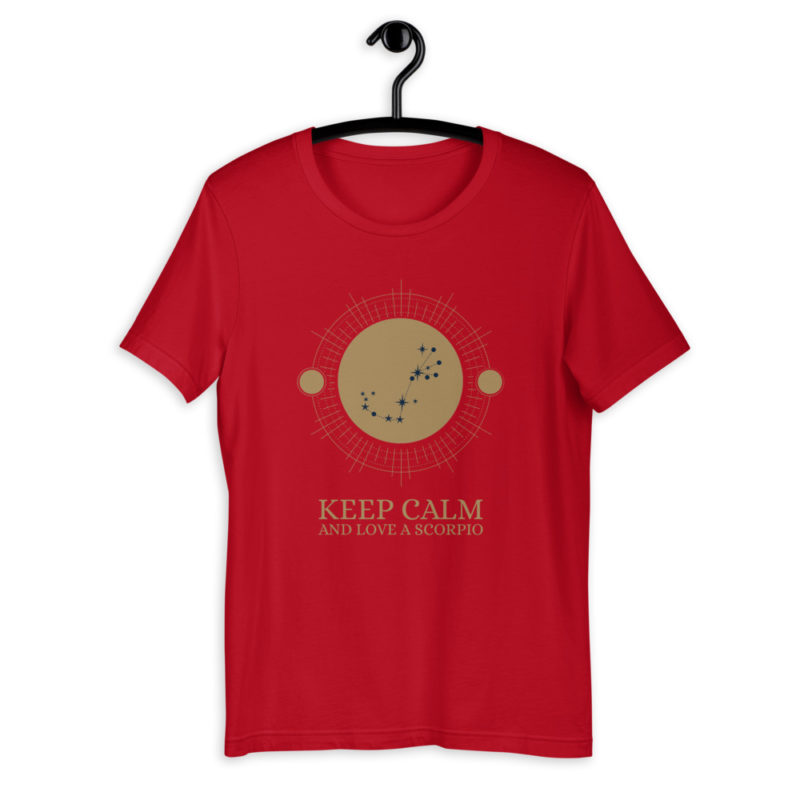 T-shirt Keep Calm Love Scorpio - Astro Scorpion - Unisexe Créer Son T Shirt