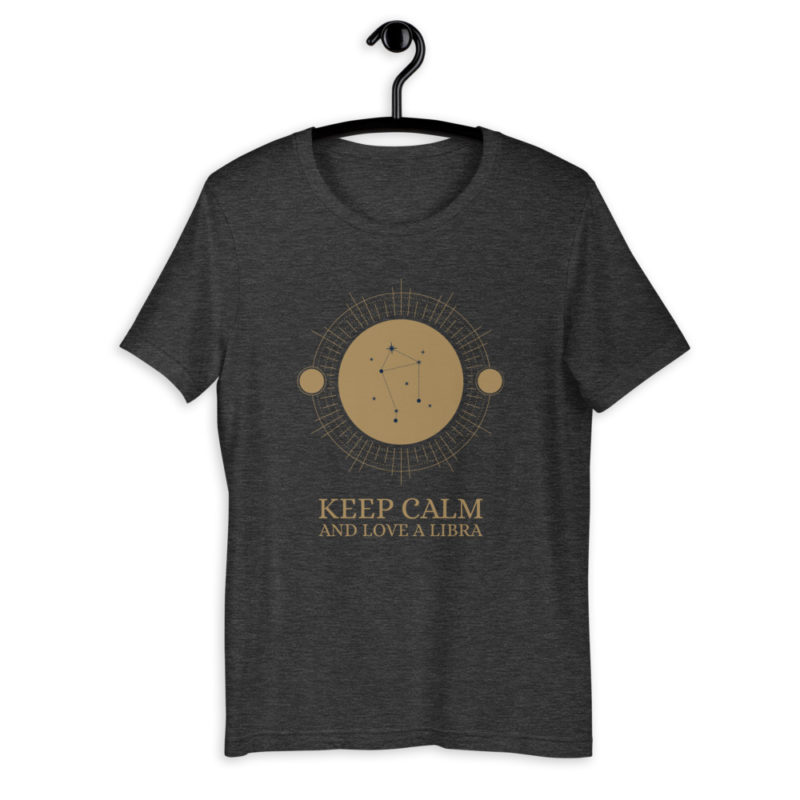T-shirt Keep Calm Love Libra - Astro Balance - Unisexe Créer Son T Shirt