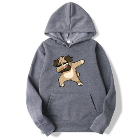 Sweat-shirt à capuche Chien Carlin DAB Créer Son T Shirt