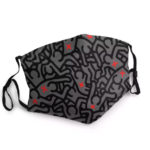 Masque Keith Haring Gris – Masque tissu lavable réglable