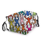 Masque Keith Haring Color – Masque tissu lavable réglable