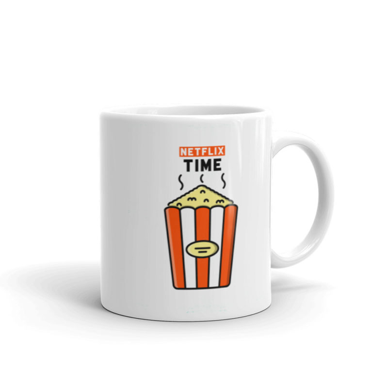 Mug Netflix time Blanc Brillant Créer Son T Shirt