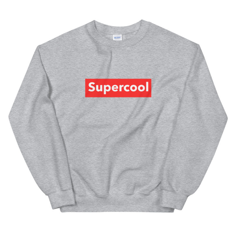 Sweat Supercool Unisexe à Col Rond Créer Son T Shirt