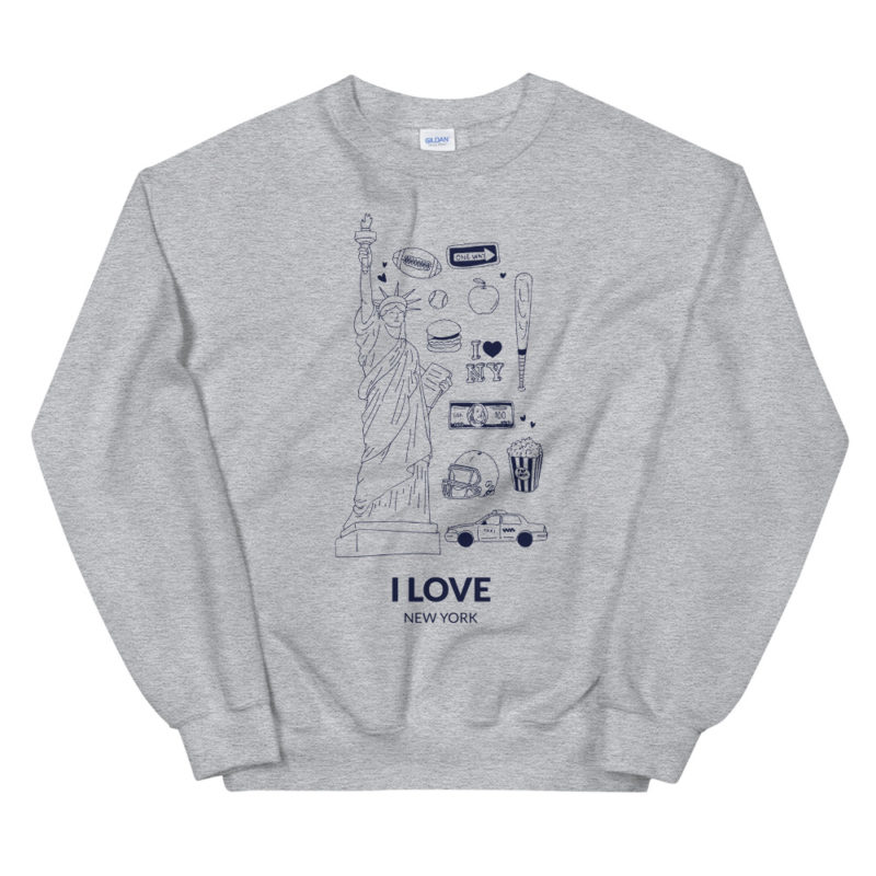 Sweat I Love New York Unisexe Créer Son T Shirt