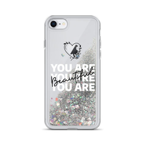Coque iPhone You are beautiful à Paillettes Liquides Créer Son T Shirt