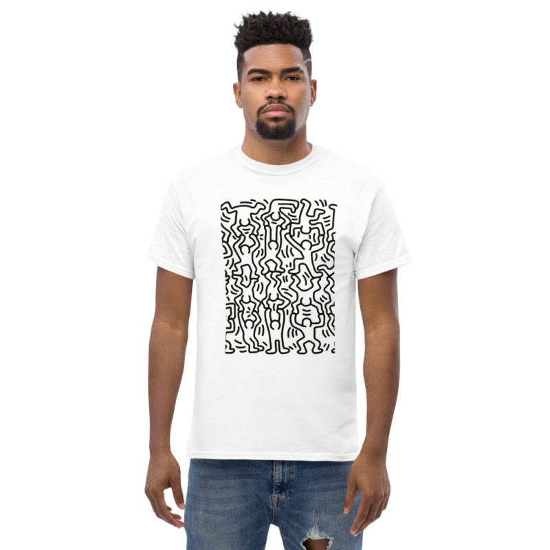 Tee shirt Keith Haring Dance Blanc Homme Créer Son T Shirt